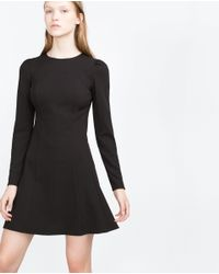 Zara | Black Cuffed Dress | Lyst