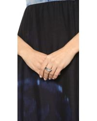 Elizabeth and James | Metallic Judd Ring - Silver | Lyst