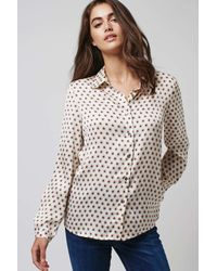 TOPSHOP Natural Cream Dot Daisy Blouse By Goldie