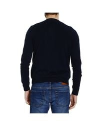 Mauro Grifoni | Blue Sweater Knit Crew-Neck Jaquard Tone On Tone Su Tone On Tone for Men | Lyst