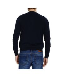 Mauro Grifoni - Blue Sweater Knit Crew-Neck Jaquard Tone On Tone Su Tone On Tone for Men - Lyst