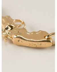 Saint Laurent Metallic Gun Earrings
