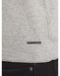 Calvin Klein Gray Cadoc Crew Neck Long Sleeve Sweater for men