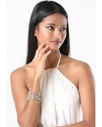 Bebe - Metallic Crystal & Chain Bracelet - Lyst