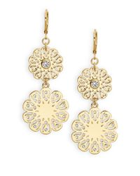 Kate Spade | Metallic Strike Gold Drop Earrings | Lyst