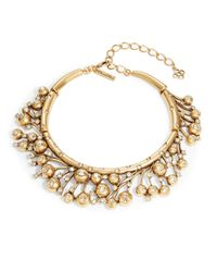 Oscar de la Renta | Brown Crystal Collar Necklace | Lyst