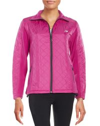 New Balance   Purple Quilted Jacket   Lyst