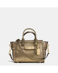COACH | Swagger 20 Metallic Tote | Lyst