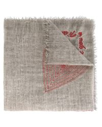 Faliero Sarti - Gray Embroidered Scarf - Lyst