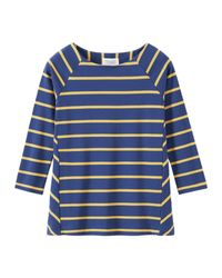 Toast | Blue Interlock Cotton Wide Stripe Tee | Lyst