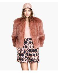 H&M Pink Fake Fur Jacket