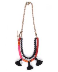 Theodosia | Pink Short Necklace With Three Tassels | Lyst
