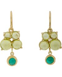 Judy Geib - Green Emerald, Peridot & Gold Drop Earrings - Lyst