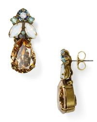 Sorrelli | Metallic River Cluster Drop Earrings | Lyst
