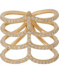 Ileana Makri Metallic Diamond & Gold Sea Tree Ring