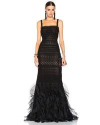Oscar de la Renta | Black Lace Gown | Lyst