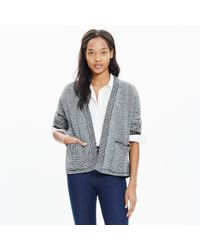 Madewell - Black Two-tone Cocoon Cardigan Sweater - Lyst