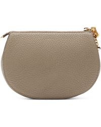 Chloé | Gray Grey Leather Drew Pouch | Lyst