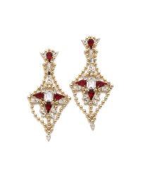 DANNIJO | Red Cyrus Earrings | Lyst