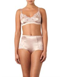 Dolce & Gabbana Natural Lace And Satin Soft-Cup Bra