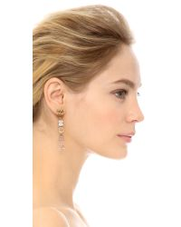 Oscar de la Renta | Brown Pendant Earrings - Tobacco | Lyst