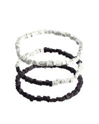 ASOS - White Monochrome Bracelet Pack for Men - Lyst