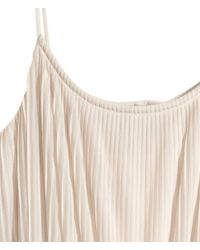 H&M Natural Pleated Dress