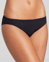 MICHAEL Michael Kors | Black Watch Band Solids Classic Bikini Bottom | Lyst