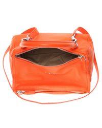 Givenchy | Orange Pandora Small Leather Shoulder Bag | Lyst