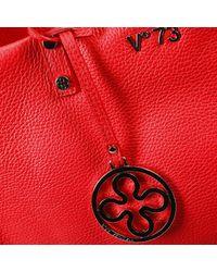V73 Red Handbag New Venezia Leather Shopping Bag