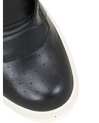 Rick Owens - Black Geobasket Leather High Top Sneakers - Lyst