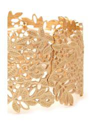 Forever 21 - Metallic Cutout Floral Stretch Bracelet - Lyst