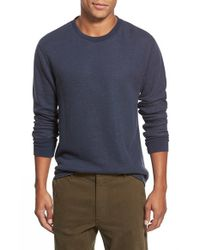 Relwen | Blue Raw Hem Crewneck Thermal for Men | Lyst
