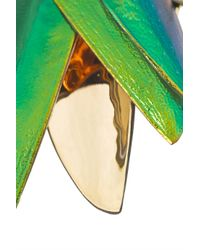 Bibi Van Der Velden - Green 18-Karat Gold, Scarab And Diamond Earrings - Lyst