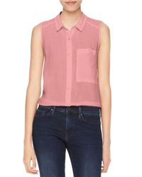Calvin Klein Jeans | Pink Patch Pocket Blouse | Lyst