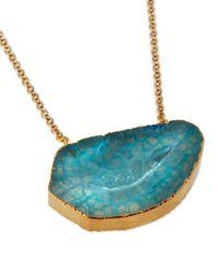 Panacea - Blue Agate Pendant Necklace - Lyst