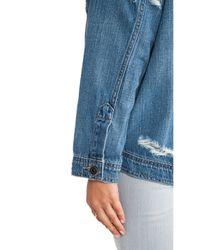 Joe's Jeans Blue Oversized Dolman Jacket