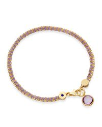 Astley Clarke | Purple Modern Love Bracelet With Amethyst | Lyst