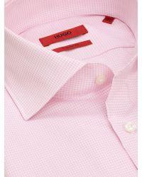 BOSS Pink Hugo Gerald Regular Fit Shirt for men