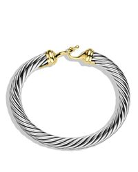 David Yurman Metallic Cable Buckle Bracelet With Gold