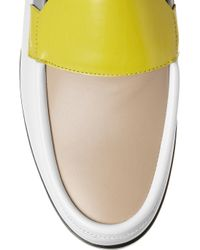 Pierre Hardy - White Colorblock Leather Loafers - Lyst