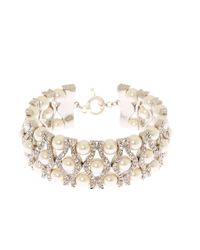 Brooks Brothers | Metallic Crystal Bracelet | Lyst