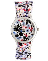 Oasis - Multicolor Flower Scarf Strap Flower Detail Watch - Lyst