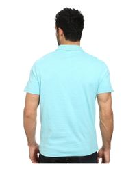 Lacoste - Blue Jersey Heathered Soft Washed Polo for Men - Lyst
