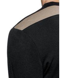Kolor - Black Cotton-cashmere T-shirt for Men - Lyst