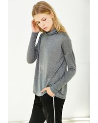 Silence + Noise - Gray Sneak Peek Turtleneck Top - Lyst