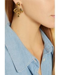 J.Crew Metallic Crystal Ray Gold-Plated Crystal Earrings