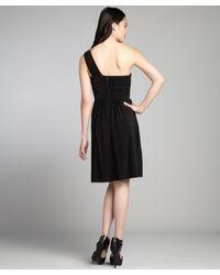 Max & Cleo - Black Jersey Knit Sequin Embellished One Shoulder 'emilly' Dress - Lyst