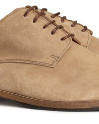 H&M Natural Suede Derby Shoes for men