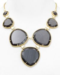 Kendra Scott - Black Rebecca Necklace 16 - Lyst